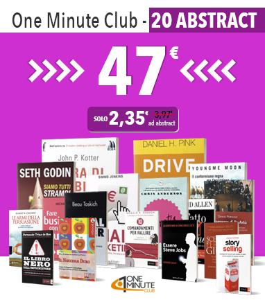 One Minute Club abbonamento di 20 abstract