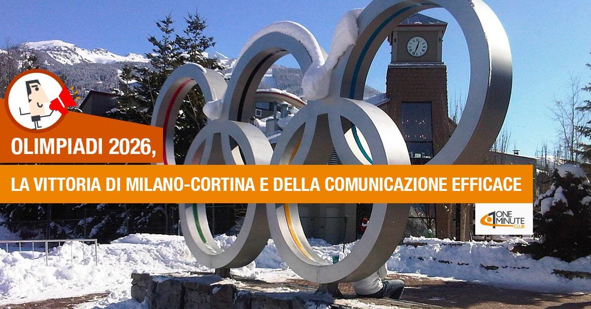 Olimpiadi 2026, la vittoria di Milano-Cortina e della comunicazione efficace