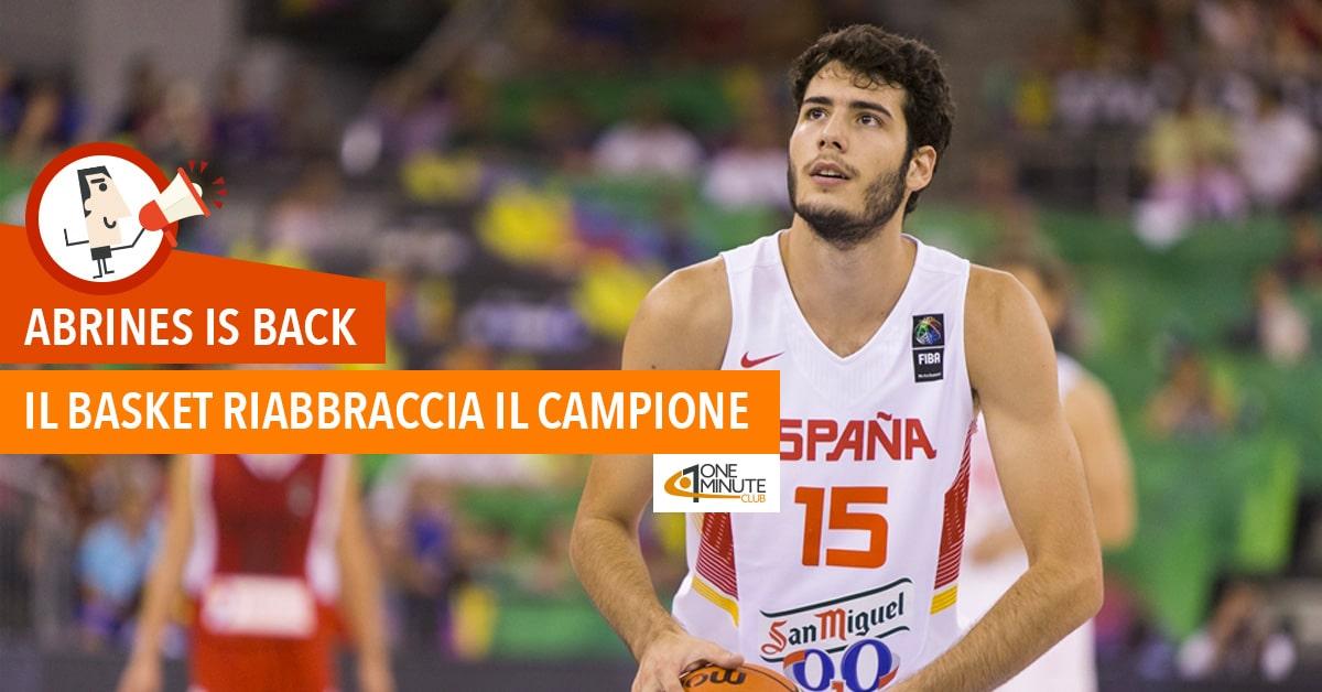 Abrines is back Il basket riabbraccia il campione