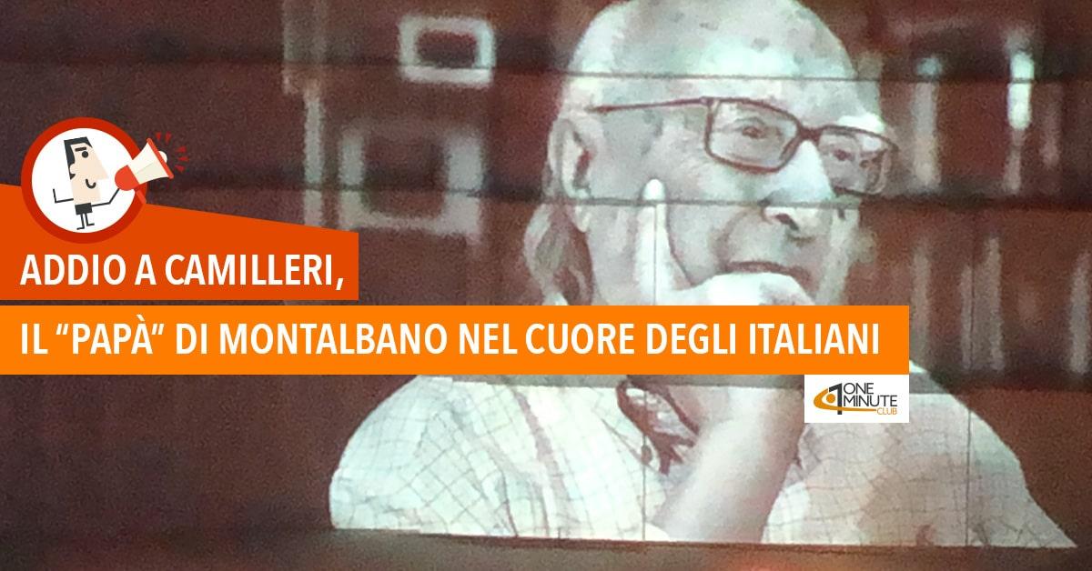 """Addio a Camilleri, il """"papà"""" di Montalbano nel cuore degli italiani"""
