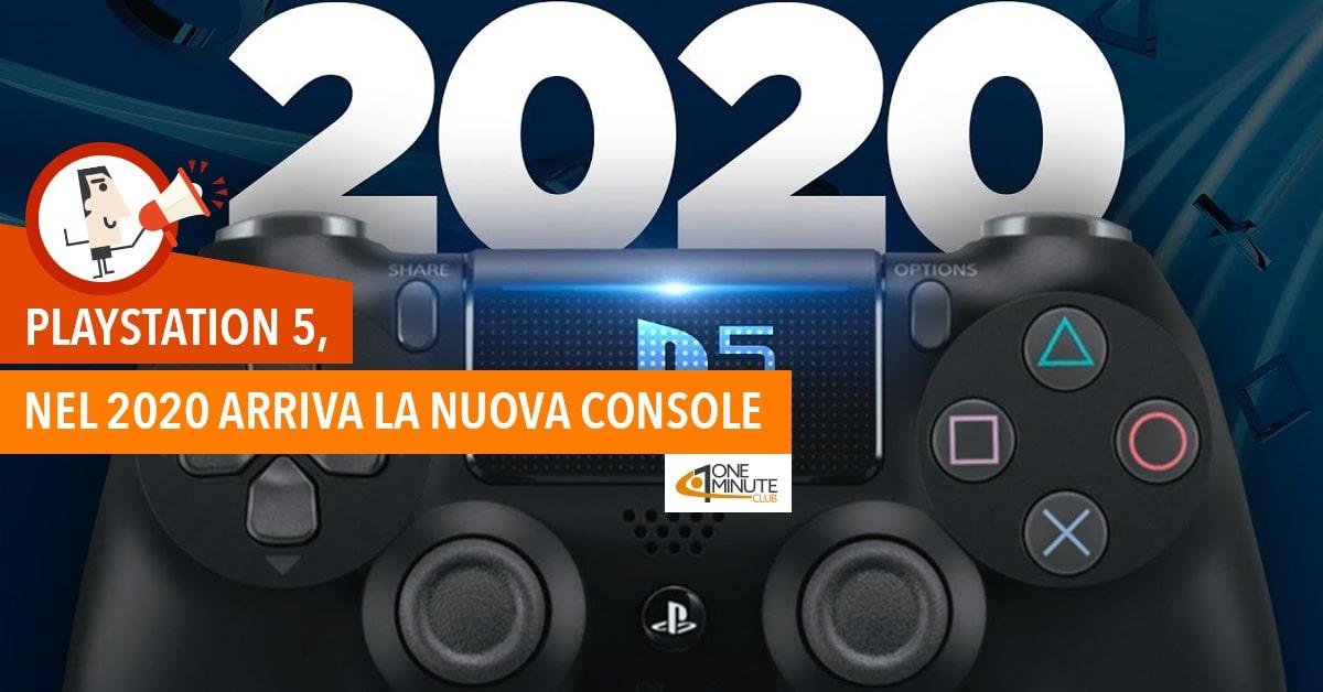 Playstation 5, nel 2020 arriva la nuova console