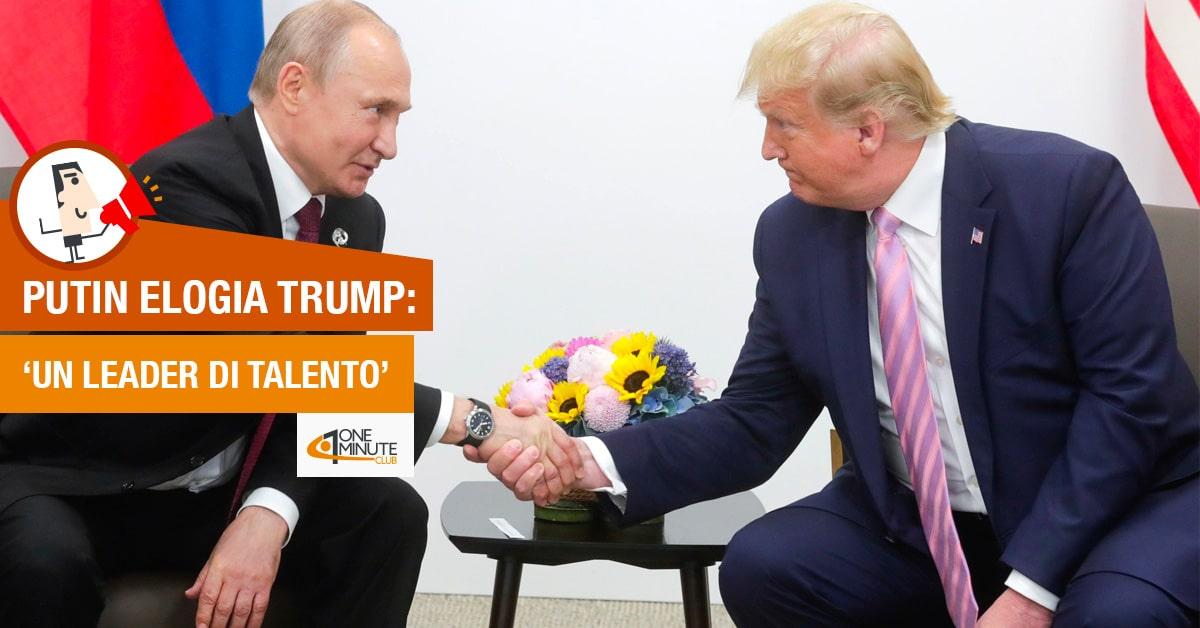 Putin elogia Trump: 'Un leader di talento'