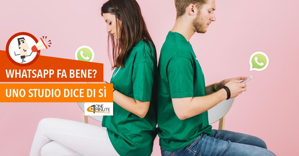 WhatsApp fa bene? Uno studio dice di sì